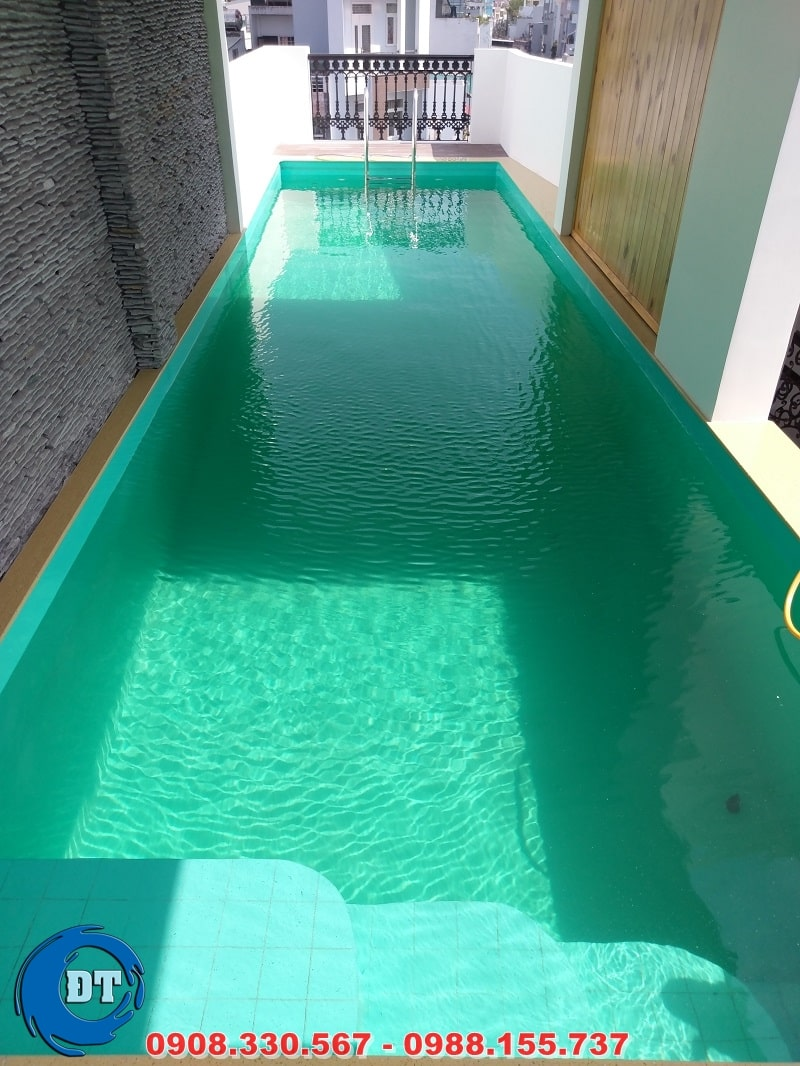 Hồ bơi hoàn thiện và được đưa vào sử dụng
